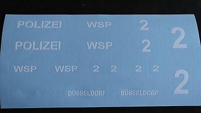 Beschriftung Aufkleber-Set für Polizeiboot Düsseldorf
