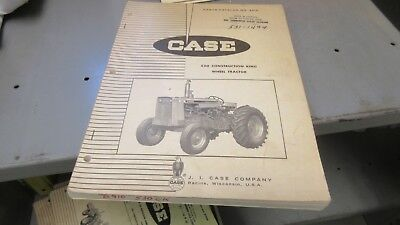 Case 530 Construction King Wheel Tractor Parts Catalog B910
