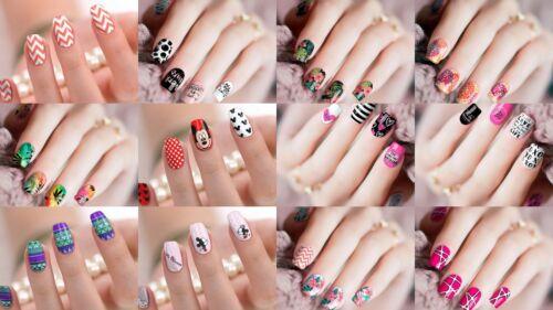 12 Nagel Folien Nail Wraps Strips Aufkleber Sticker