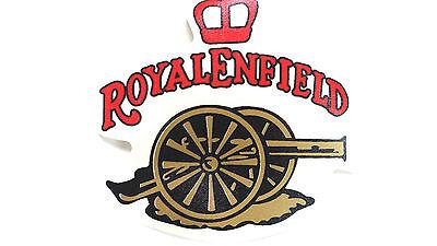 Royal Enfield Kanone mit Krone 9,5x 9cm braun Schrift rot