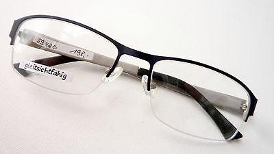 Brillengestell schwarz ohne Unterrand sportlich biegsame Bügel, für Männer Gr. M