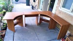 Full pine computer desk set - 2x corner desks + 2x regular desks Rostrevor Campbelltown Area Preview
