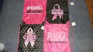 Breast-Cancer-Awareness-Nylon-Pink-Ribbon-Drawstring-Backpacks-4-Assorted-styles