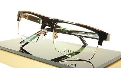 ZILLI Eyeglasses Frame Acetate Titanium Black Gold France Made ZI 60005 C01 037
