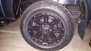 18inch a/t hankok tyres and  wheels. Springfield Lakes Ipswich City Preview