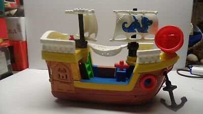 Fisher-Price Little People TALKING Lil Pirate Ship (2005) Excellent Condition