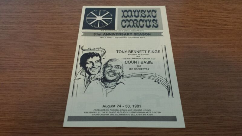 TONY BENNETT COUNT BASIE LIVE CONCERT PERFORMANCE MUSIC CIRCUS BOOK 08/24/1981