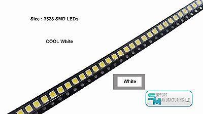Pack Of 100 White 1210 Plcc-2 3528 Smd Smt Led Light Chip