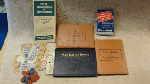 Lot of WWII War Ration Stamp Books with Some Stamps