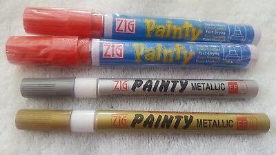 Zig Painty Paint Pen Med. Tip  Permanent - Zig Paint Pens