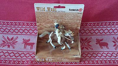 70302 Schleich Wild West Indianer Sioux Junge auf Pony Neu und in OVP