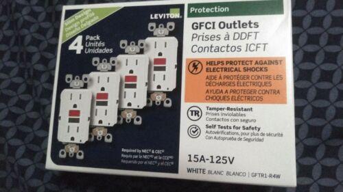 15 Amp 125-Volt Self-Test Tamper Resistant GFCI Outlet, White (4-Pack)