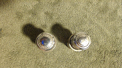 2 OEM GM 1980's Cadillac Cigarette Lighter Chrome with Cadillac Wreath Emblem