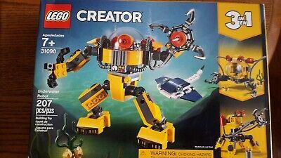 NEW LEGO Creator 3in1 Underwater Robot 31090 Building Kit (207 Piece)