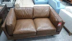 DHALIA LEATHER 2 SEATER - FACTORY SECOND - HIGH END RETAILER Richmond Yarra Area Preview