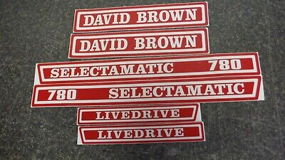 David Brown 780 Selectamatic Live Drive Tractor Decals. Hood Only. Vinyl C- Pics