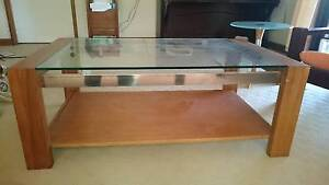 Coffee table, glass topped Top Camp Toowoomba City Preview