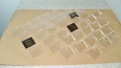 40 Used Clear Acrylic Sign Display Stand Table Name Price Tag Holders