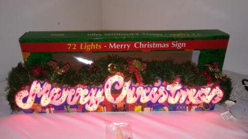 72 Light Electronic Merry Christmas Greetings Display Sign Holiday Home Decor