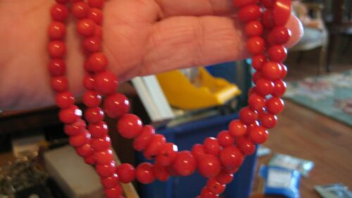 """NWOT JAY KING/DTR STERLING SILVER TRIPLE STRAND CORAL NECKLACE, 21"""" LONGEST"""