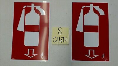 Fire Extinguisher Sign 7x11 Lot Of 2