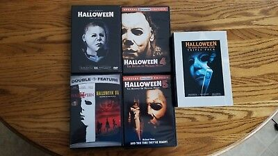 Halloween Series Complete Movie Collection All 1-8 DVD Set 1978-2002 Horror - Halloween Complete Collection Dvd