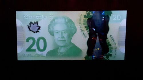 One  NEW  2012 UNC Canadian Polymer $20 Banknote