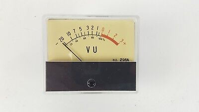Vintage Vu Meter Level Indicator 298a 006-028 Panel Mount 2-78 X 2-38