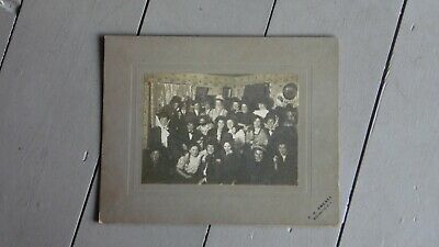 c1900's HALLOWEEN PARTY CABINET PHOTO Cross Dressing Wellsville NY Photographer