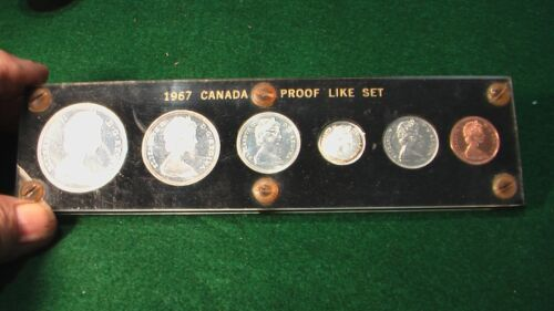 1967 CANADA UNCIRCULATED PROOF LIKE (PL) COIN SET IN CARD