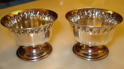 SET OF 2 VINTAGE SMALL WINE LIQUEUR FOOTED SHOTS GOBLETS KIDDUSH CUPS SILVER 800 Footed Goblet