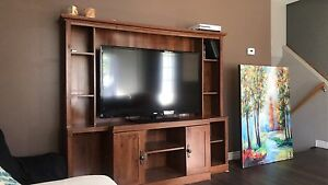 Abbey oak finish entertainment center