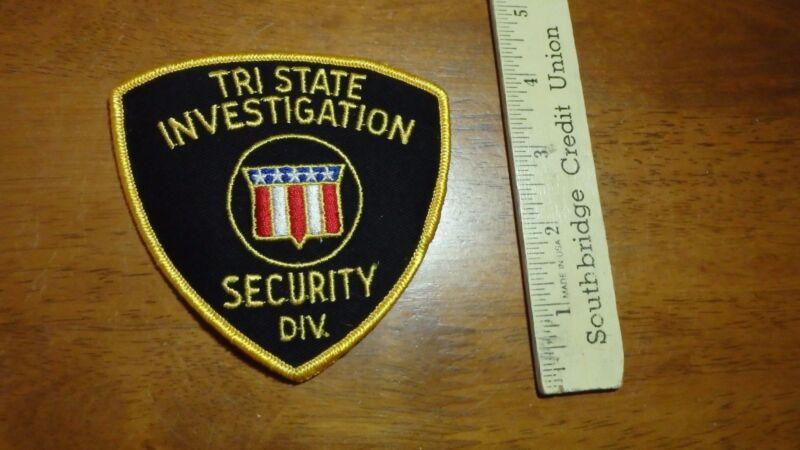 TRI STATE INVESTIGATION SECURITY DIV S.   SALESMAN COPY OBSOLETE PATCH BX 12 #17