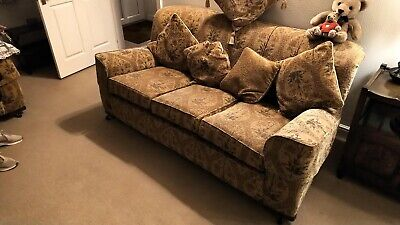 Three Piece Suite with two arm chairs