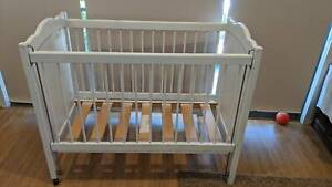 Wood Baby Cot White - Great condition