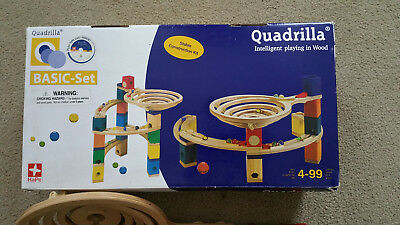 Hape Quadrilla Wooden Marble Run Construction Basic Set 98 Pieces , used for sale  Holderness
