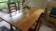 Dining table 1915mm x 1010mm with 4 ladder back chairs South Turramurra Ku-ring-gai Area Preview