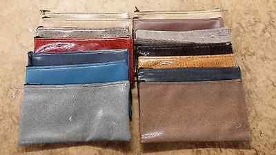 10 Pack Assorted Zippered Premium Vinyl Bank Deposit Bag Lot Tool Bag Organizer