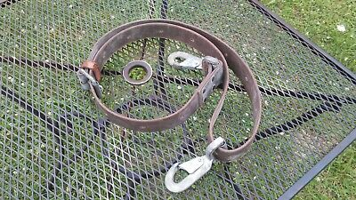 Klein Tools Usa Lineman Tree Leather Climbing Safety Belt Positioning Strap