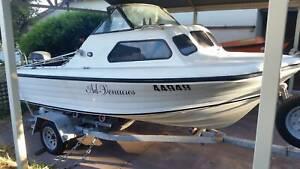 SwiftCraft Fibreglass 4.53M Boat & 60HP Yamaha