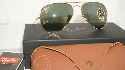 RAY BAN Aviator Limited Edition 1937 Sunglasses Gold/G15 RB3025 001/31 58 (1937 Ray Ban)