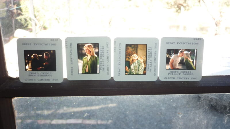 COLLECTION OF 4 ORIGINAL MOVIE FILM CELLS, GREAT EXPECTATIONS, ETHAN HAWKE
