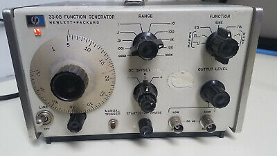 Hp 3310b Function Generator 5 Mhz 50 Ohm High Low Outputs