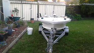 14 ft tinny with 15hp motor  and trailer Marayong Blacktown Area Preview