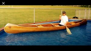 18' hand made cedar strip Canoe