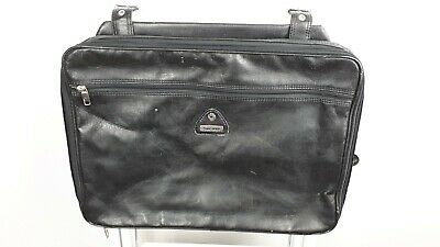 Vintage Samsonite Black Briefcase / Attache Case Panniers, expansion pockets