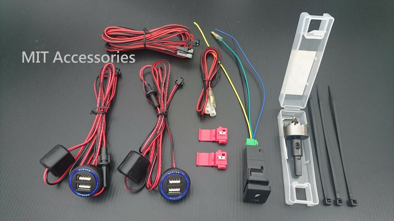 Details about MIT TOYOTA TACOMA 08-16 2x Dual USB port phone charger 2 1A  Power Adapter+switch