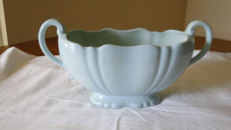 Vintage CROWN DEVON Made in England Vintage Large Vase Green / Blue Aqua Mint