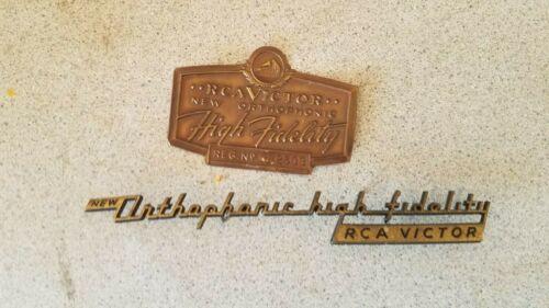 "Original 6.5"" RCA Victor Orthophonic High Fidelity Logo Badge Sign Emblem"