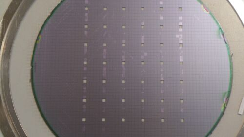 8 inch Silicon Wafer Test Mask Artistic Pattern #4